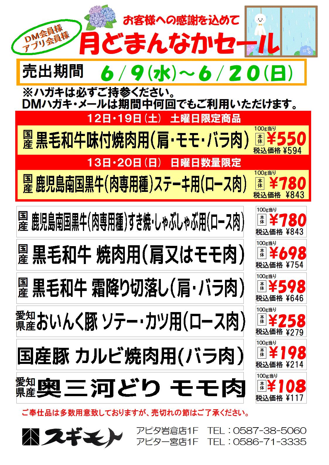 岩倉店チラシ